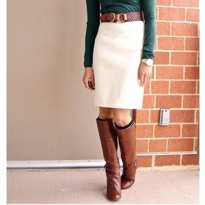 Banana Republic cream wool blend skirt, a line